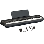 Yamaha - P125 88-Key Weighted Action Digital Piano with Power Supply and Sustain Pedal