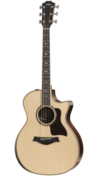 Taylor - 814CE DLX 800 Deluxe Series Grand Auditorium Acoustic/Electric Guitar with Armrest
