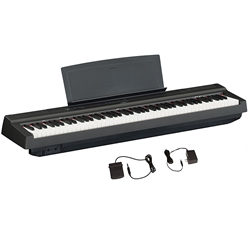Yamaha - P125B 88-Key Weighted Action Digital Piano with Power Supply and Sustain Pedal